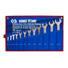 Набор рожковых ключей, 6-32 мм , чехол из теторона, 12 предметов KING TONY 1112MRN