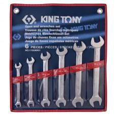 Набор рожковых ключей, 8-19 мм, 6 предметов KING TONY 1106MR01