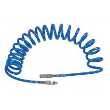 Шланг пневматический спиральный высокого давления 13х18 мм, 15 м, М1/2