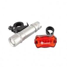 Набор велосипедный: передний 1 Вт LED, 160 лм, задний 5 red LED Stern