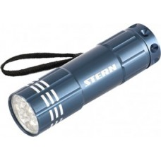 Фонарь бытовой алюминиевый, синий корпус, 9 LED, 3хААА Stern