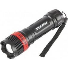 Фонарь бытовой, пластиковый корпус, 1 Вт LED, ремешок, зум, 3 режима 100%-50%-строб, 3хААА Stern