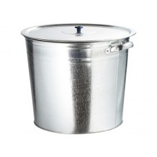 Бак для воды оцинкованный с крышкой (крышка с ручкой) 20л, без крана