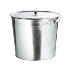 Бак для воды оцинкованный с крышкой (крышка с ручкой) 32л, без крана