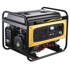 Генератор бензиновый KGE4000, 3,0–3,3 кВт, 220В/50Гц, 12 В/DC, ручн. пуск KIPOR