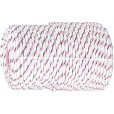 Фал плетёный полипр. 16-прядный с полипр. серд. 8 мм, бухта 100 м, 520 кгс  СИБРТЕХ