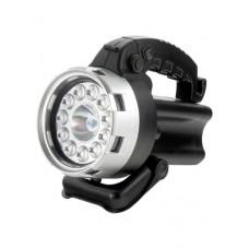 Фонарь Stern поисковый, аккумуляторный, галоген 25 Вт + 11 LED Черный