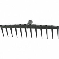 Грабли 12-зубые, 450 мм, без черенка, сенные полиэтиленовые  СИБРТЕХ