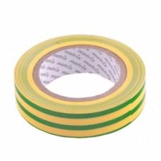 Изолента ПВХ MATRIX 88776  15 мм х 10 м, жёлто-зелёная, 150 мкм
