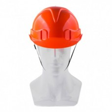 Каска защитная с храповым механизмом, ЕВРОПЛАСТ, оранжевая  Сибртех