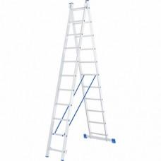 Лестница двухсекционная алюминиевая СИБРТЕХ   2 х 11 ступеней