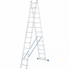 Лестница двухсекционная алюминиевая СИБРТЕХ  2 х 13 ступеней