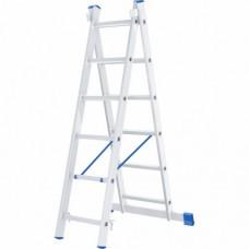 Лестница двухсекционная алюминиевая СИБРТЕХ  2 х 6 ступеней
