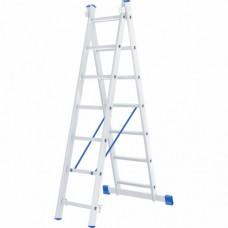 Лестница двухсекционная алюминиевая СИБРТЕХ  2 х 7 ступеней