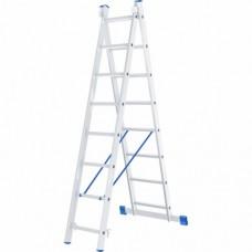 Лестница двухсекционная алюминиевая СИБРТЕХ  2 х 8 ступеней