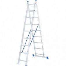 Лестница двухсекционная алюминиевая СИБРТЕХ  2 х 9 ступеней
