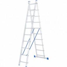 Лестница двухсекционная алюминиевая СИБРТЕХ  2х10ступеней