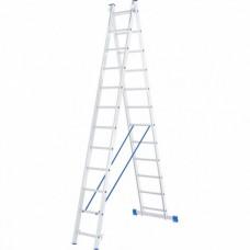Лестница двухсекционная алюминиевая СИБРТЕХ  2х12ступеней