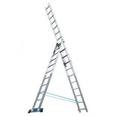 Лестница трехсекционная алюминиевая MATRIX  3 х 12 ступеней