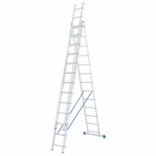 Лестница трехсекционная алюминиевая СИБРТЕХ  3 х 13 ступеней