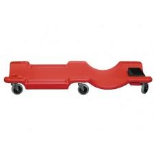 Лежак ремонтный на 6-ти колесах, 1000 х 475 х 128 мм, пластиковый MATRIX