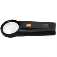 Лупа 2,5 кратная, D 53 мм, с подсветкой, с рукояткой SPARTA