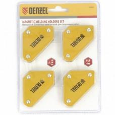 Набор из 4 магнитных фиксаторов для сварочных работ  Denzel