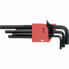 Набор ключей имбусовых HEX, 1, 5–10 мм, CrV, 9 шт., оксидированные, удлиненные  MATRIX