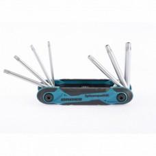 Набор ключей имбусовых Tamper-Torx, TT10-TT40, CrV, складные, 7 шт.  Gross