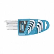 Набор ключей имбусовых TORX-TT, 9 шт: T10-T50, удлиненные, S2, сатинированные  Gross