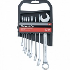 Набор ключей комбинированных, 6 - 19 мм, 8 шт., CrV, матовый хром  MATRIX