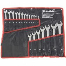 Набор ключей комбинированных 6-32 мм, 20 шт., CrV, полированный хром   MATRIX