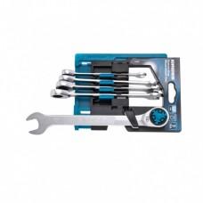 Набор ключей комбинированных трещоточных, СRV, 5 шт. 8- 17 мм Gross