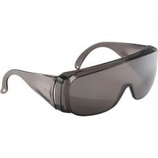 Очки защитные открытого типа, затемненные, ударопрочный поликарбонат СибрТех 89156
