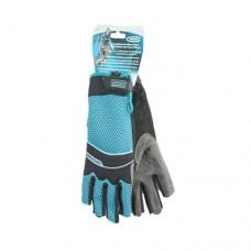 Перчатки комбинированные облегченные, открытые пальцы, L Gross 90316