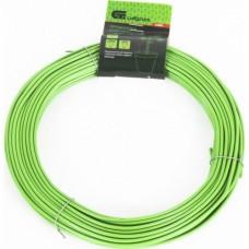 Проволока для подвязки, стальная в ПВХ (зелёный) 25 м ,  внутр. 1, 6 мм / внеш. 3, 0 мм Сибртех