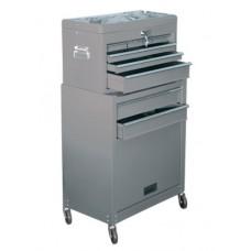 Шкаф для инструмента 2-секционный, 600х260х340 мм, 616х330х658 мм, на колесах, 10 ящиков MATRIX
