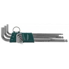 H06SA209S Набор ключей торцевых шестигранных удлиненных с шаром дюймовых, 9 предметов