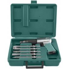 JAH-6833HK Набор молоток пневматический 2100 уд/мин., патрон H10, с насадками, 8 предметов