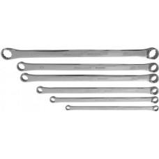 W61106S Набор ключей гаечных накидных удлиненный CrMo в сумке, 10-24 мм, 6 предметов