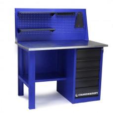 Стол для слесарных работ 1200 мм однотумбовый с 5-мя ящиками с экраном