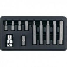Набор бит SPLine, хвостовик-шестигранник 11/2, CrV, 10 мм, 11 предметов Stels